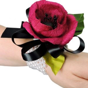 paper flower corsage raspberry anemone