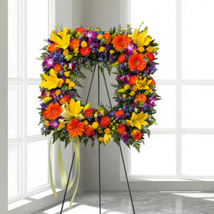 Glorious Tribute Square Standing Spray_FP