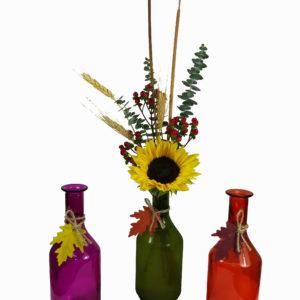 Falling leaf 3 vases