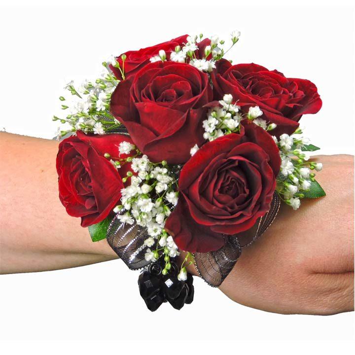 premium selection 91c44 7d0a0 Red Miniature Rose Wristlet Corsage (CBCCLA03)