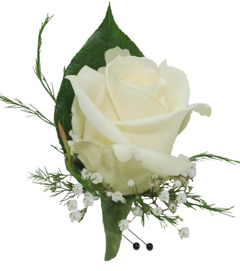 White Rose Boutonniere ...