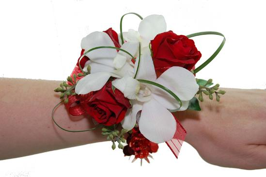 Miniature red rose white orchid wrist corsage cbccla03 flower miniature red rose white orchid wrist corsage cbccla03 mightylinksfo Gallery