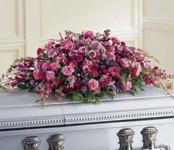 ftd affection casket spray flower patch
