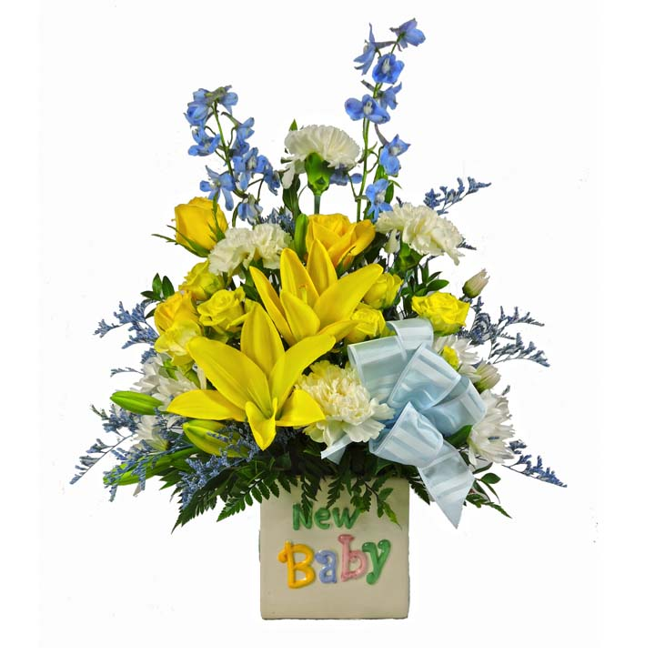 Welcome New Baby Boy – Flower Patch