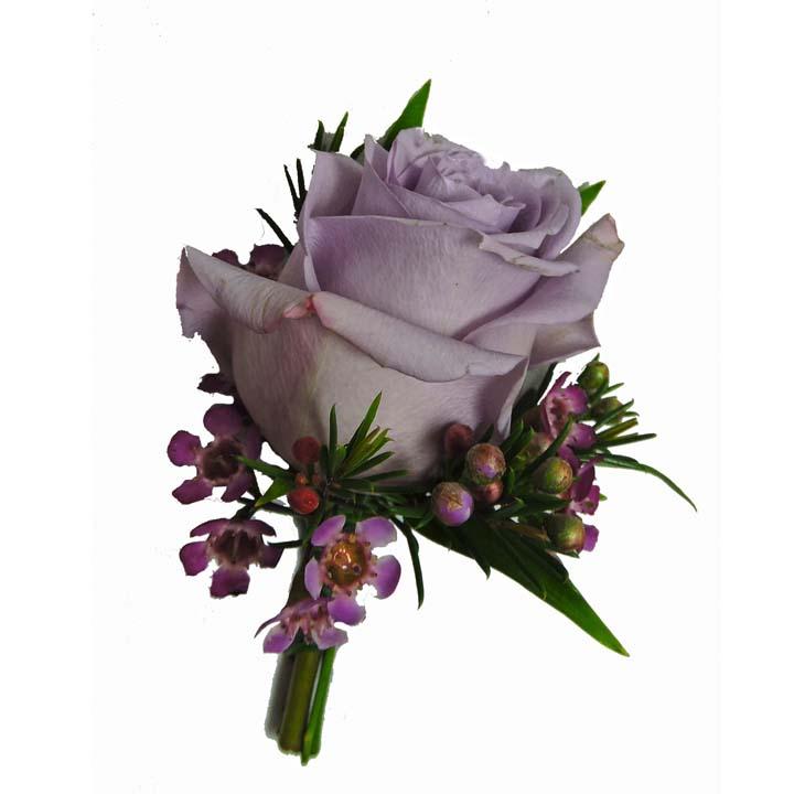 lavender boutonniere-#12