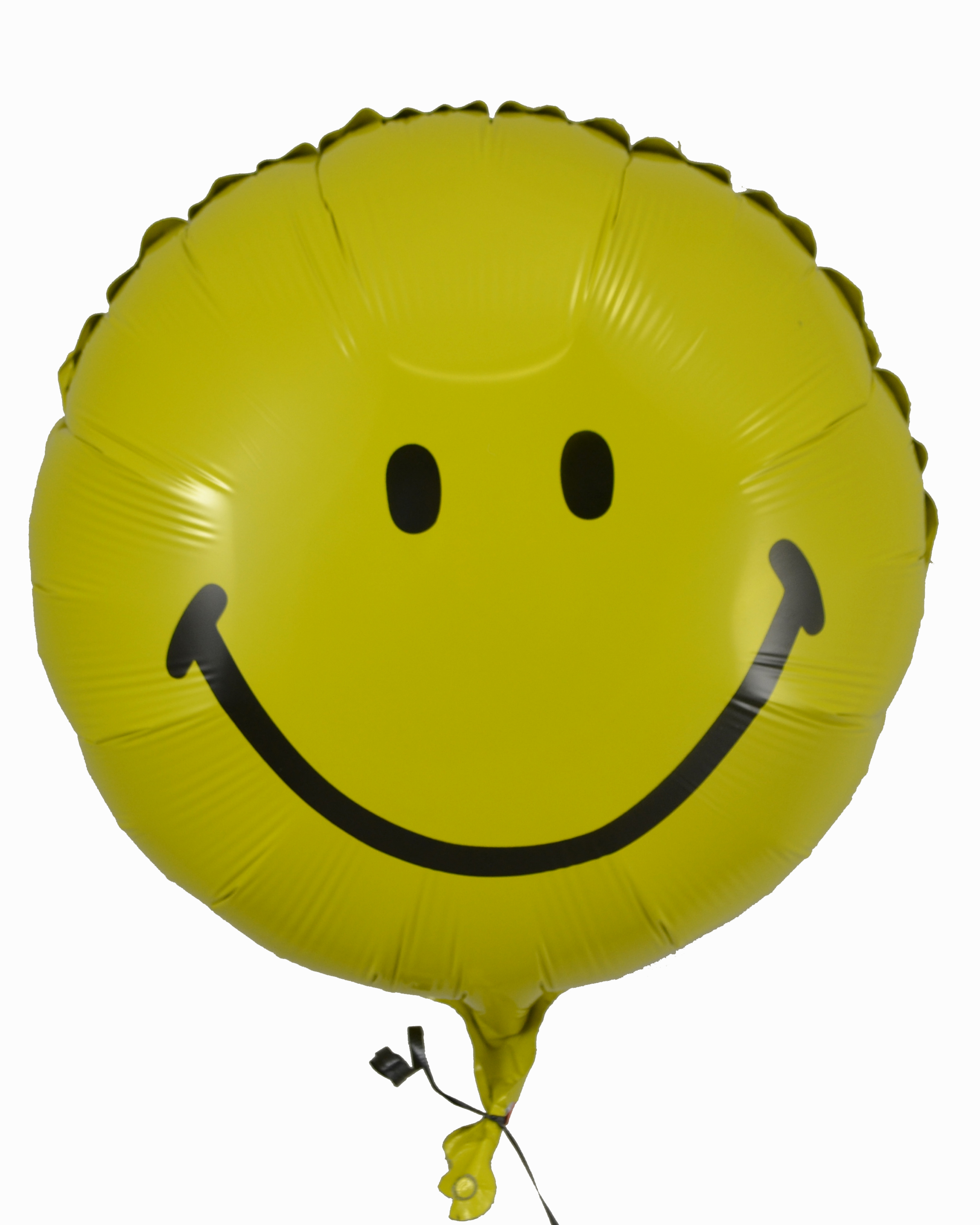 Yellow Smiley Face Mylar Balloon – Flower Patch
