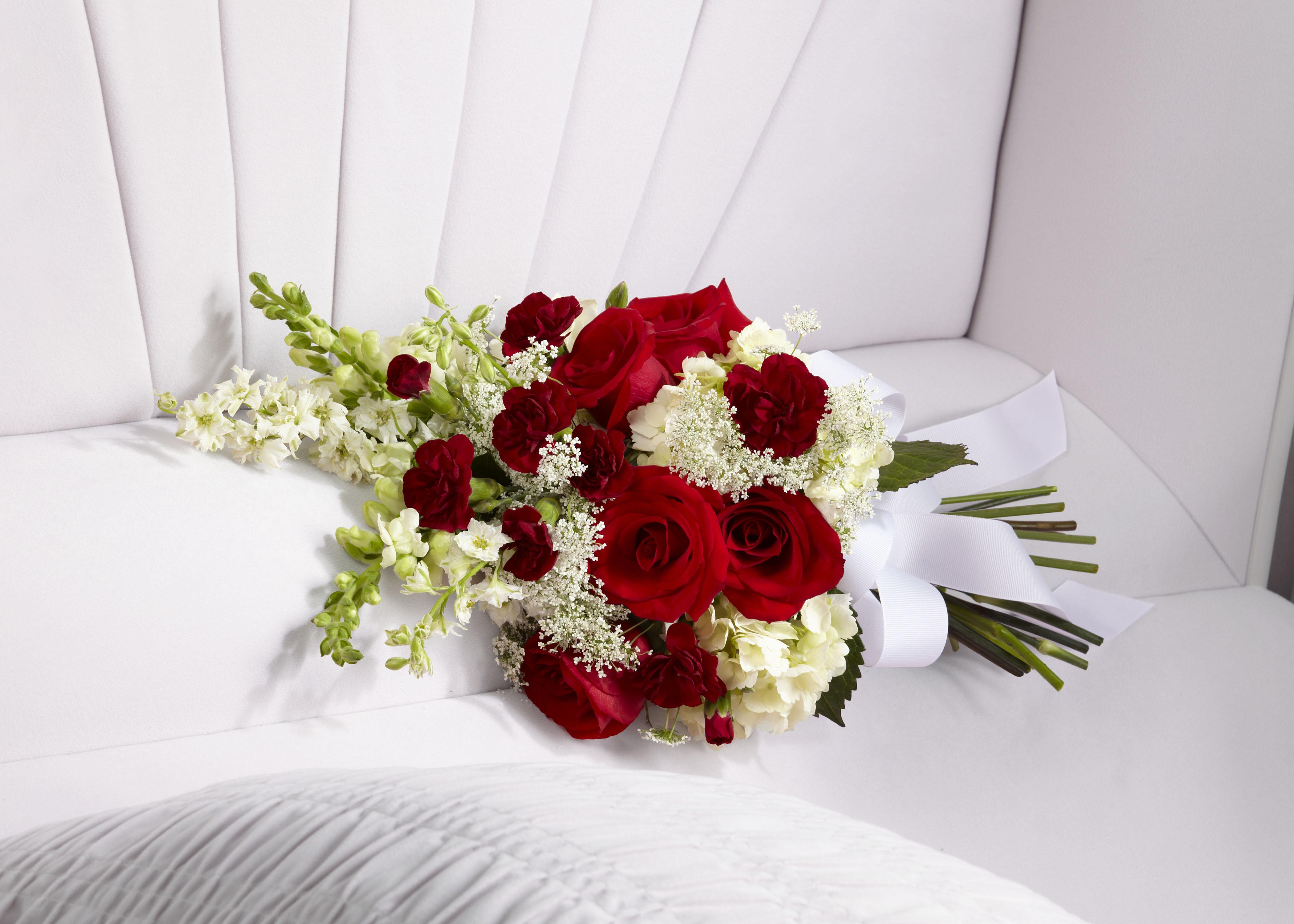 Funeral flower patch treasured memories casket lid piece izmirmasajfo